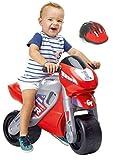 FEBER - Motofeber 2 Racing Correpasillos con Casco, Color Rojo (Famosa 800008171)