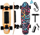 Hanico Skateboard Eléctrico Longboard Eléctrico a Control Remoto para Adulto Jóvenes Niño, Negro...