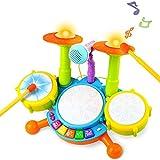 Tambor Infantil Instrumentos Musicales Infantiles Batería Juguete con Canciones Infantil Kit de...
