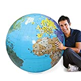Abysse- Globe Gonflable Mundo 85 cm, Multicolor (CALY SARL 060F)