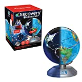 Discovery 2 en 1 Educativos, Luz, Juguetes, Bola del Mundo Niños, Globos Terráqueos, Mapa Mundi...
