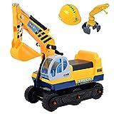 deAO Vehículo Correpasillos Camión de Construcción con Excavadora Manual Inlcuye 2 Extensiones...