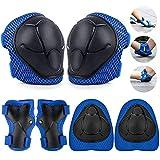 TOSHIHIKO Protecciones Skate Niño, 6 Pack Juego de Protección Rodilleras y Cojines de Codo para...